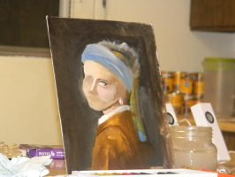 Girl with the Pearl Earring WIP by GleeAtack