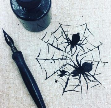 Ink spiders by aricatnyan