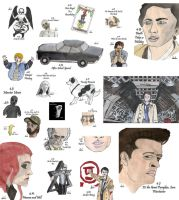 Drawing Per Episode-Supernatural Season 4 by hatoola13