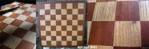 Custom Chessboard - Highschool woodshop by SurfTiki