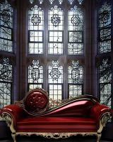 Window with Red lounge Background FGM by FairieGoodMother