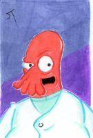 Oh Dr. Zoidberg Save Us sketch card by johnnyism