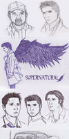 Supernatural Sketch dump by JoyceW-Art