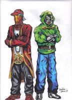 Ghostface Killah and MF Doom by kristiano21