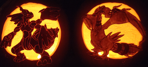 Truth and Ideals - Zekrom and Reshiram Pumpkins