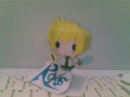 roxas white-red papercraft by Grim-paper