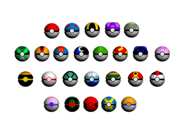All Poke balls by AkumaDEDE
