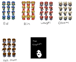 Eid sprites -Characters- by Chaos55t