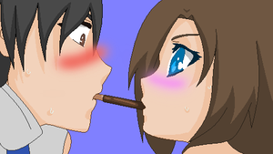 The Pocky Game... by ArtistOfDarkness