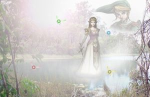 Wallpaper: Zelda on a lake by Eirixoto