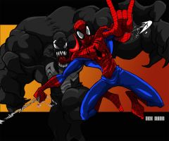 Spidey and Venom by Misterho