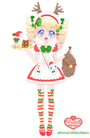 Maid Mallow's Christmas Time by Princess-Peachie
