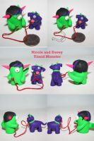 Nicole and Davey Timid Monster by TimidMonsters