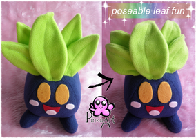 Oddish plush by PinkuArt