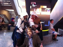 Connor, Ezio and the Burger King - Otakuthon 2013 by J25TheArcKing