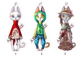 Street fashion cats adoptable - (CLOSED) by Delfi-Delfi