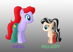 My little disney: Ariel and Melody by Willemijn1991