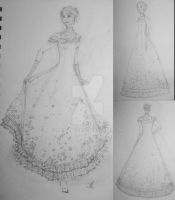 Design - Steampunk Ballgown by heulangel