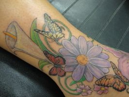 Ankle Flowers by LeviSmithArt