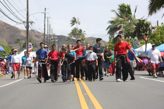 Action Shot 4th of July Parade- Kailua, Oahu by AndyTwoplay