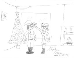 Mike and Zoey Christmas by stephdumas