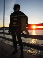 Robin cosplay.. Sunset by 1Deidi
