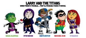 Larry and the Titans by LindaJV