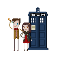 Pixel Doctor Who by AnjohInc