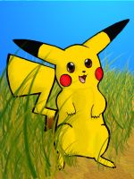 Wild Pikachu appears by KatOtter
