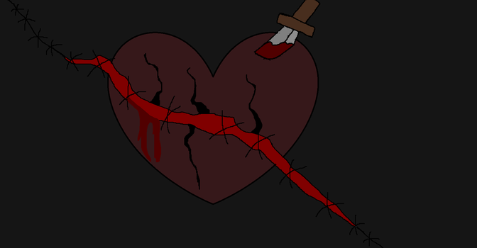 Ripped Picture of a Tortured Heart by darkness846