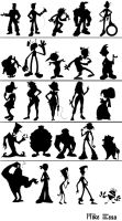 Random Silhouettes by MiketheMike