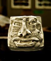 TWO-EYED OGRE FACE MUG by CorazondeDios