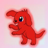 the big red dog by cuppykake