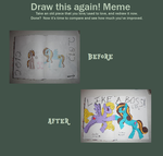Drawing OC Ponies Two Years Later by Oceanblue-Art