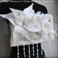 Lady Galadriel Bridal Muff by TianaChe