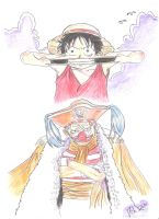 Luffy V.S. Baggy by cristiano-ronaldo-7