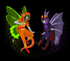 Heir of Light and Thief of Rage by DokuPRODUCTIONS