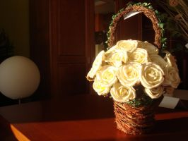 A Basket with Flowers by Lusitana-Stock