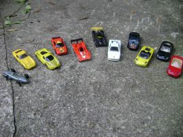 Ferrari Collection of HotWheel by spotnick97
