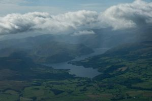 Ullswater from the air. by sandyprints