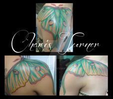Luna Moth Tattoo by Metacharis
