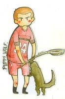 Puppy Wolf - Lacrosse by Bisho-s