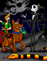 Scooby-Doo meets Jack Skellington by ElectricLimeRose