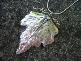 Silver Leaf Pendant by silverclay