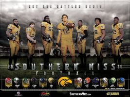 Southern Miss Football Poster by BHoss1313
