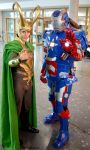 Loki and Iron Patriot Cosplay Comic Con 2016 by Mon-Kishu