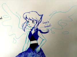 Inktober Day 3 - Lapis Lazuli by solcastle