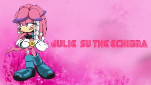 Julie-Su the Echidna - Wallpaper by Knuxy7789