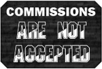 Not Accepted Commissions Badge by LevelInfinitum
