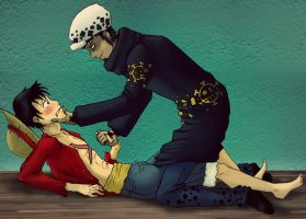 Law X Luffy by Moskita